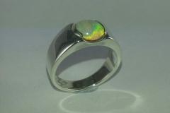 silver gemstone ring