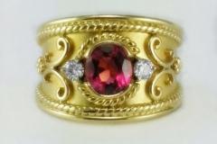 Tourmaline-and-diamond-Ring
